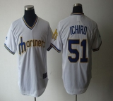 Seattle Mariners #51 Ichiro Suzuki White Cooperstown Throwback Stitched MLB Jersey