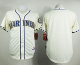 Seattle Mariners Blank Cream Alternate Cool Base Stitched MLB Jersey