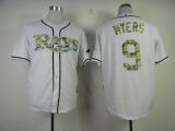 Tampa Bay Rays #9 Wil Myers White USMC Cool Base Stitched MLB Jersey