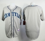 Seattle Mariners Blank Grey Cool Base Stitched MLB Jersey