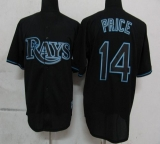 Tampa Bay Rays #14 David Price Black Fashion Stitched MLB Jersey