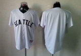 Seattle Mariners Blank White 1909 Turn Back The Clock Stitched MLB Jersey