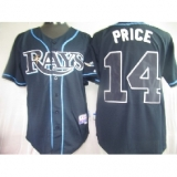 Tampa Bay Rays #14 David Price Dark Blue Cool Base Stitched MLB Jersey