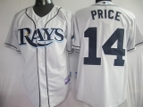 Tampa Bay Rays #14 David Price Grey Cool Base Stitched MLB Jersey