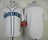 Seattle Mariners Blank White Cool Base Stitched MLB Jersey