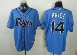 Tampa Bay Rays #14 David Price Light Blue Cool Base Stitched MLB Jersey