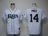 Tampa Bay Rays #14 David Price White Cool Base Stitched MLB Jersey