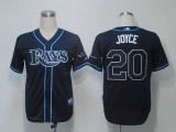 Tampa Bay Rays #20 Matt Joyce Dark Blue Cool Base Stitched MLB Jersey