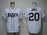 Tampa Bay Rays #20 Matt Joyce White Cool Base Stitched MLB Jersey