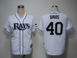 Tampa Bay Rays #40 Wade Davis White Cool Base Stitched MLB Jersey