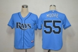 Tampa Bay Rays #55 Matt Moore Light Blue Cool Base Stitched MLB Jersey
