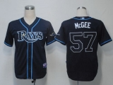Tampa Bay Rays #57 Jake Mcgee Dark Blue Cool Base Stitched MLB Jersey