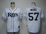 Tampa Bay Rays #57 Jake Mcgee White Cool Base Stitched MLB Jersey
