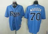 Tampa Bay Rays #70 Joe Maddon Light Blue Cool Base Stitched MLB Jersey