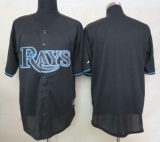 Tampa Bay Rays Blank Black Fashion Stitched MLB Jersey