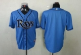 Tampa Bay Rays Blank Light Blue Cool Base Stitched MLB Jersey