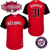 Washington Nationals #31 Max Scherzer Red 2015 All-Star National League Stitched MLB Jersey