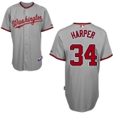 Washington Nationals #34 Bryce Harper Grey Cool Base Stitched MLB Jersey