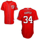 Washington Nationals #34 Bryce Harper Red Cool Base Stitched MLB Jersey