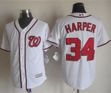 Washington Nationals #34 Bryce Harper White New Cool Base Stitched MLB Jersey