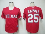 Texas Rangers #25 Mike Napoli Red Cool Base Stitched MLB Jersey