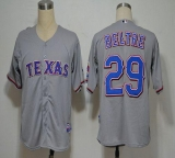 Texas Rangers #29 Adrian Beltre Grey Cool Base Stitched MLB Jersey
