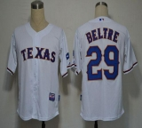 Texas Rangers #29 Adrian Beltre White Cool Base Stitched MLB Jersey