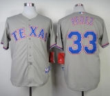 Texas Rangers #33 Martin Perez Grey Cool Base Stitched MLB Jersey
