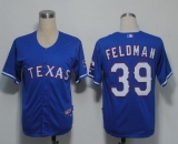 Texas Rangers #39 Scott Feldman Blue Cool Base Stitched MLB Jersey