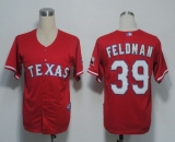 Texas Rangers #39 Scott Feldman Red Cool Base Stitched MLB Jersey