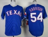 Texas Rangers #54 Matt Harrison Blue Cool Base Stitched MLB Jersey