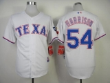 Texas Rangers #54 Matt Harrison White Cool Base Stitched MLB Jersey