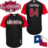 Texas Rangers #84 Prince Fielder Black 2015 All-Star American League Stitched MLB Jersey