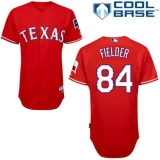 Texas Rangers #84 Prince Fielder Red Cool Base Stitched MLB Jersey