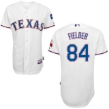 Texas Rangers #84 Prince Fielder White Cool Base Stitched MLB Jersey