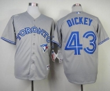 Toronto Blue Jays #43 R A  Dickey Grey Cool Base Stitched MLB Jersey