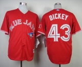 Toronto Blue Jays #43 R A Dickey Red Canada Day Stitched MLB Jersey
