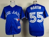 Toronto Blue Jays #55 Russell Martin Blue Alternate Stitched MLB Jersey