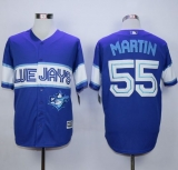 Toronto Blue Jays #55 Russell Martin Blue Exclusive New Cool Base Stitched MLB Jersey