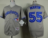 Toronto Blue Jays #55 Russell Martin Grey Stitched MLB Jersey