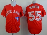 Toronto Blue Jays #55 Russell Martin Red Canada Day Stitched MLB Jersey