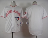 Toronto Blue Jays Blank White 2015 Canada Day Stitched MLB Jersey