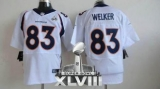 NEW Broncos #83 Wes Welker White Super Bowl XLVIII NFL Jerseys