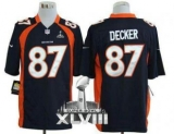 NEW Broncos #87 Eric Decker Navy Blue Alternate Super Bowl XLVIII NFL Game Jerseys