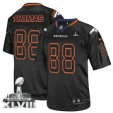 NEW Broncos #88 Demaryius Thomas Lights Out Black Super Bowl XLVIII NFL Elite Jerseys