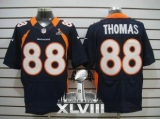 NEW Broncos #88 Demaryius Thomas Navy Blue Alternate Super Bowl XLVIII NFL Elite Jerseys