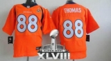 NEW Broncos #88 Demaryius Thomas Orange Team Color Super Bowl XLVIII NFL Jerseys