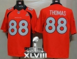 NEW Broncos #88 Demaryius Thomas Orange Team Color Super Bowl XLVIII NFL Limited Jerseys
