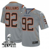 NEW Broncos #92 Sylvester Williams Lights Out Grey Super Bowl XLVIII NFL Elite Jerseys
