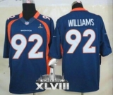 NEW Broncos #92 Sylvester Williams Navy Blue Alternate Super Bowl XLVIII NFL Limited Jerseys